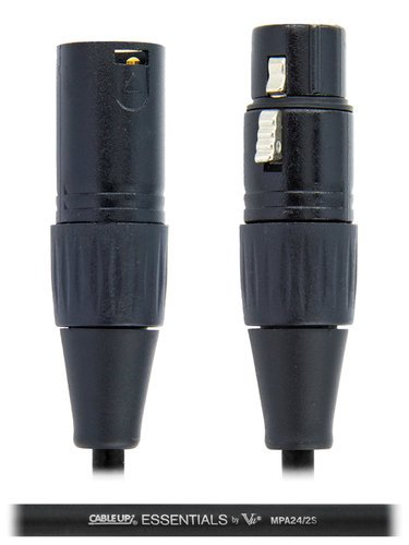 Cable Up by Vu MIC-10-BLACK 10 ft XLR Microphone Cable MIC-10-BLACK