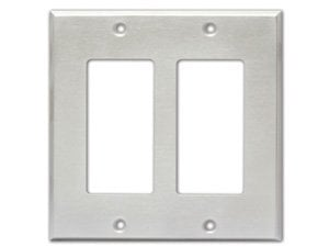 Radio Design Labs CP-2S Stainless Steel Dual-Gang Wall Plate CP2-S