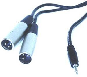 "Hosa CYX403M Audio Y-Cable, Stereo 1/8"" Male to Two XLR Males, 9.9 Feet CYX403M"