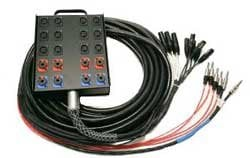 Whirlwind MP12-150 Power Snake, 12 Inputs x 4 Return, 150 Ft MP12-150