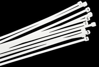 Liberty AV Solutions CT-4  Pack of (100) White 18 lb. Tensile Strength Economy Cable Ties CT-4