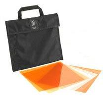 Litepanels 900-3000 1x1 CTO Gel Filter Set (6 Piece) with Carrying Bag 900-3000