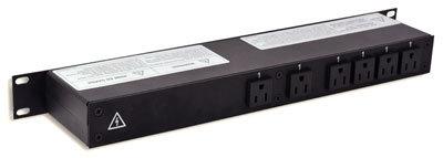 Lex Products Corp PRM1UN-8CA 1RU Rack Mount Power Distribution, PowerCON In/Thru to Edisons PRM1UN-8CA