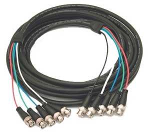 Kramer C 5BM/5BM 25 Molded 5 BNC-BNC Cable, 25 ft. C-5BM/5BM-25