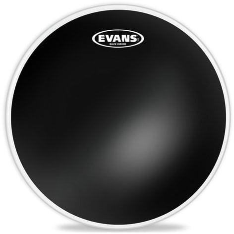 """Evans TT12CHR 12"""" Black Chrome Batter Drum Head TT12CHR"""