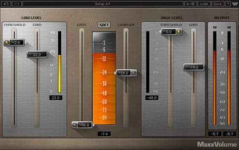 Waves MaxxVolume 4-way Dynamic Processing Plugin MXVLTDM