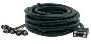 Kramer C-GM/5BF-10 Molded Male VGA to 5 Female BNC Breakout Cable, 10 Ft C-GM/5BF-10