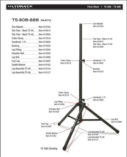Ultimate Support 13894 Ultimate Support Stands Telescoping Tube 13894