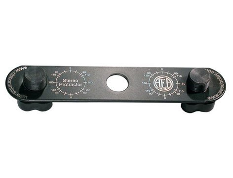 """Audio Engineering Assoc STEREO-PROTRACTOR  6"""" Mini Stereo Microphone Mounting Bar STEREO-PROTRACTOR"""
