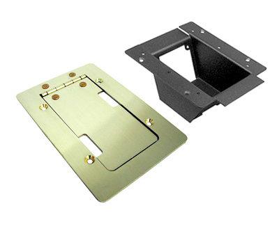 Ace Backstage Co. 025BR Mini Pocket with Brushed Brass Finish Trim Bezel Lid Assembly 025BR