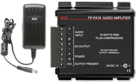 Radio Design Labs FP-PA18 18W, 8 Ohm Mono Audio Amplifier with Power Supply FP-PA18