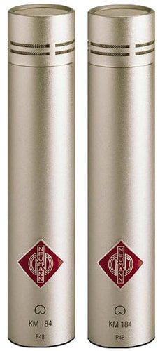 Neumann SKM 184 ni Stereo Pair of Cardioid Condenser Microphones in Satin Nickel Finish with K40 Capsule and Accessories SKM184-NI