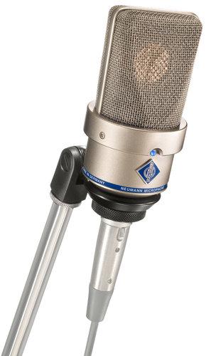 Neumann TLM 103 Large Diaphragm Cardioid Microphone in Satin Nickel Finish with SG1 Swivel Mount & Wood Box TLM103-NICKEL