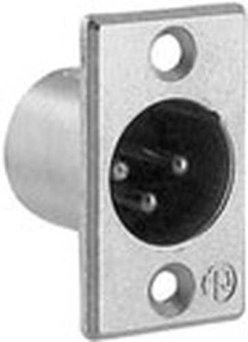 Neutrik NC3MP 3-Pin XLR Male Panel Connector (Nickel) NC3MP