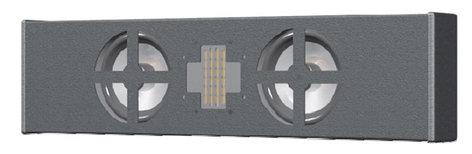 "Innovox Audio SL-2.1RH-WHT Two-Way Horizontal-Mount Speaker, Dual 4"", Precision Ribbon HF Driver SL-2.1RH-WHT"