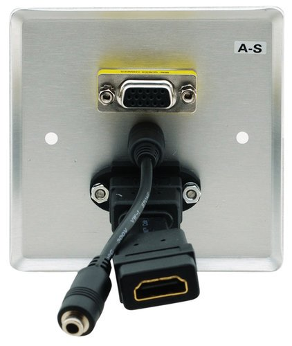 Kramer WXA-H  Passive Wall Plate - 15-pin HD, 3.5mm Audio & HDMI WXA-H
