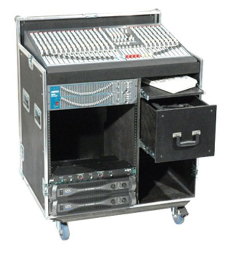 Grundorf Corp T8-COMBO-S18B  Tour 8 Series Combo Case, Single 18 Space with Compartment, Black T8-COMBO-S18B