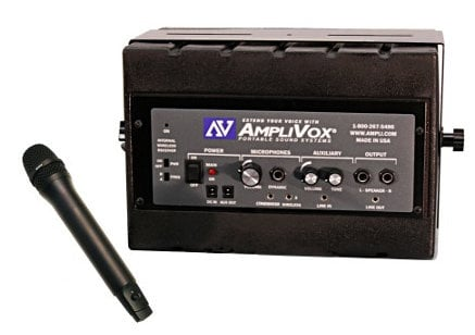 AmpliVox SW1230 Mity Box Active Speaker with Wireless Bodypack Transmitter and Lavalier SW1230