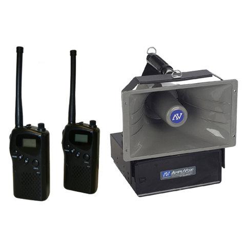 AmpliVox SW6210 Radio Hailer Wireless PA Speaker with 2 MURS Radios SW6210