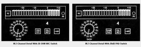 John Hardy Company M-2 3-Channel 3-Channel Microphone Preamplifier M-2-3CH