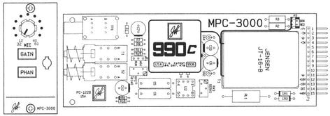 John Hardy Company MPC-3000 Microphone Preamplifier Card Superior Plug-In Replacement for Sony MXP3000-Series Preamplifiers MPC-3000