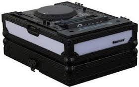 Odyssey FFX2RCDJBL  Flight FX2 Series Large Format Tabletop CD/Digital Media Player Case with Front & Right Side LED Panel FFX2RCDJBL