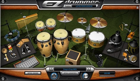 Toontrack Latin Percussion EZX Latin Expansion for EZdrummer/Superior Drummer (Electronic Delivery) LATIN-PERCUSSION