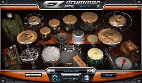 Toontrack Twisted Kit EZX Twisted Kit Expansion for EZdrummer/Superior Drummer TWISTED-KIT