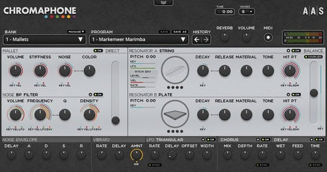 Applied Acoustics Systems Chromaphone 2 Creative Percussion Synthesizer Software  (Electronic Delivery) CHROMAPHONE