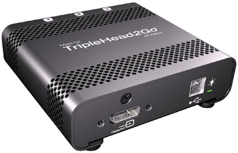 Matrox TRIP2GO-DP-MIF TripleHead2Go - DisplayPort Edition with mini DP to DP Cable TRIP2GO-DP-MIF