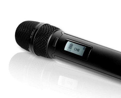 Sennheiser SKM9000 NI COM Handheld Transmitter with Command Button, Nickel, No Mic Head SKM9000-NI-COM