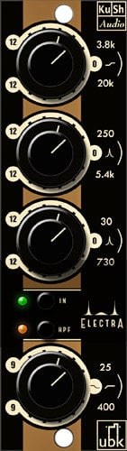 Kush Audio Electra 500 Series 4-Band Single Channel Electrified Transient Equalizer ELECTRA-500