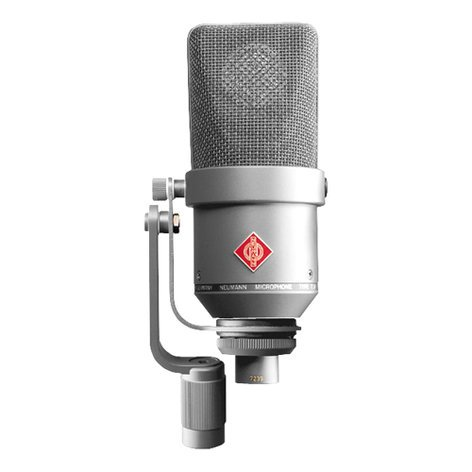 Neumann TLM 170 R Stereo Stereo Matched Pair of Multi-Pattern Microphones with K89 Capsules, Elastic Suspensions, Tilting Side Brackets, & Case in Satin Nickel Finish TLM170R-STEREO-NI
