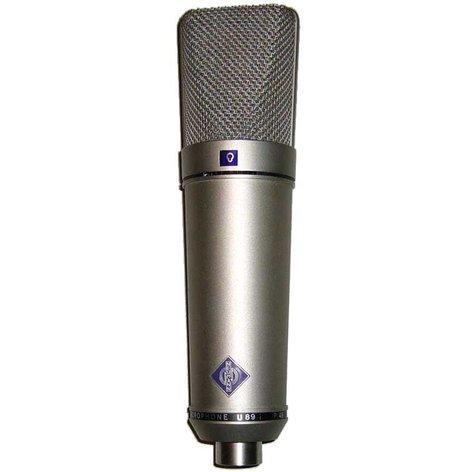 Neumann U89I-SILVER U 89 i Mulitpattern Microphone in Satin Nickel Finish with K 89 Capsule and Wood Box U89I-SILVER