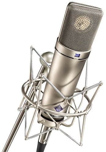 Neumann U 87 Ai Multipattern Large Dual Diaphragm Condenser Microphone in Satin Nickel Finish with Wood Box, WITHOUT Mount U87AI-SILVER