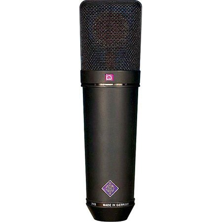 Neumann U 87 Ai mt Set Z Multipattern Large Dual Diaphragm Condenser Microphone in Matte Black Finish with Wood Case, EA 87 Shock Mount, WS 87 Windscreen, & IC 3/25 Cable U87AI/SET-Z/BLACK