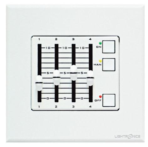 Lightronics Inc. AF2104 4 Scene Remote Fader Station AF2104