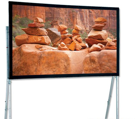 "Draper Shade and Screen 241016  220"" Ultimate Folding Screen Portable Projection Screen, with Standard Legs 241016"