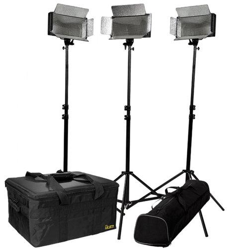 ikan Corporation ID500-v2-KIT 3-Point LED Light Kit with Stands & Cases ID500V2-KIT