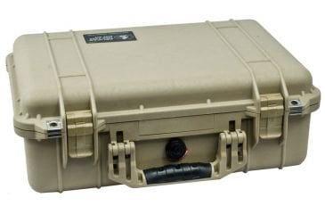 Pelican Cases 1500 Medium Desert Tan Case with Foam Interior PC1500-DESERT-TAN