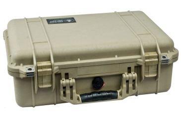 Pelican Cases 1500 Medium Desert Tan Case with Foam Interior PC1500-DESERT-TAN