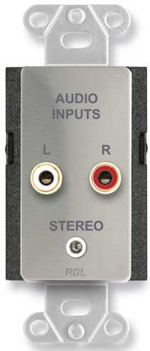 Radio Design Labs D/S-CIJ3D Stainless Steel Stere Audio Input Connector Plate DS-CIJ3D