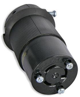 Lex Products Corp HBL2313BK 20 Amp 125 VAC NEMA L5-20 Twist Locking Female Connector HBL2313BK-LEX