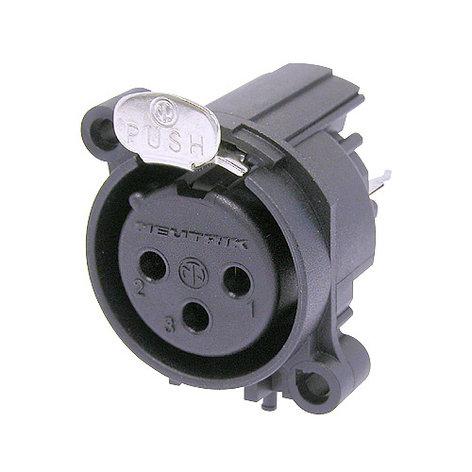 Neutrik NC3FAV  A-Series 3-Pin XLR-F Receptacle NC3FAV
