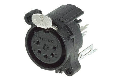 Neutrik NC5FAV  A-Series 5-Pin XLR-F Receptacle NC5FAV