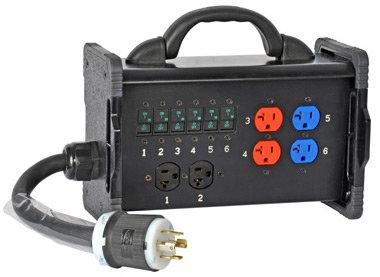 Lex Products Corp BNB2-3B 30 Amp Bento Box with Tail Input to NEMA Receptacles BNB2-3B