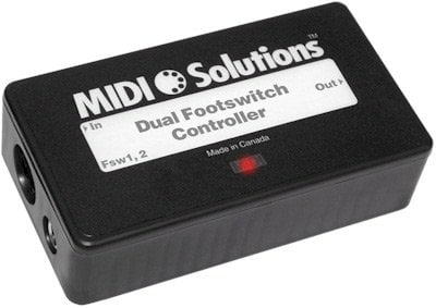 MIDI Solutions Dual Footswitch Controller Multi Function MIDI Event Generator DUAL-FOOTSWITCH