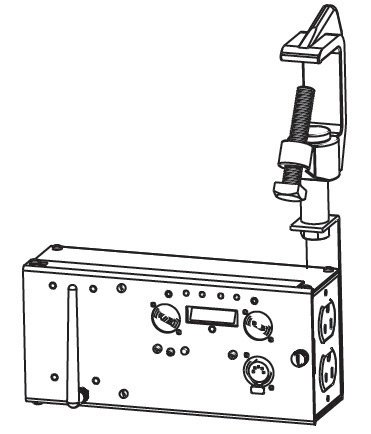 """Leprecon 90-40-0001 W-D1 Watson Power Manager with 9"""" Enclosure and Single Duplex Switched Outlet 90-40-0001"""