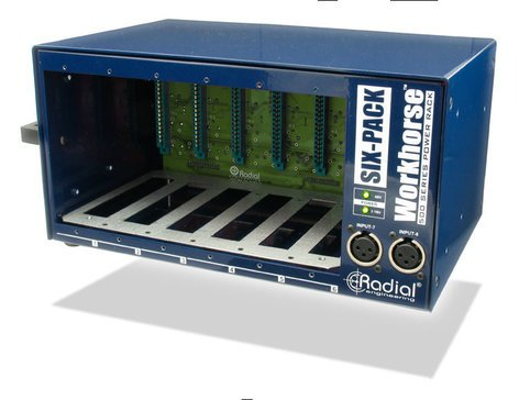 Radial Engineering SIX-PACK SixPack 500 Series 6-Slot Desktop Power Rack SIX-PACK