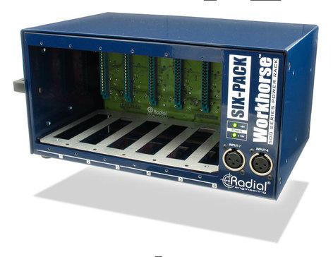Radial Engineering SixPack 500 Series 6-Slot Desktop Power Rack SIX-PACK